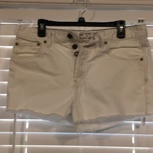 Free People Button Fly White Shorts Sz 31